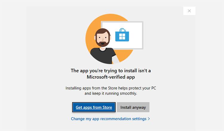 你尝试安装的应用不是Microsoft验证的应用
